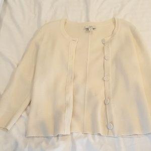 Cream 3/4 sleeve cardigan